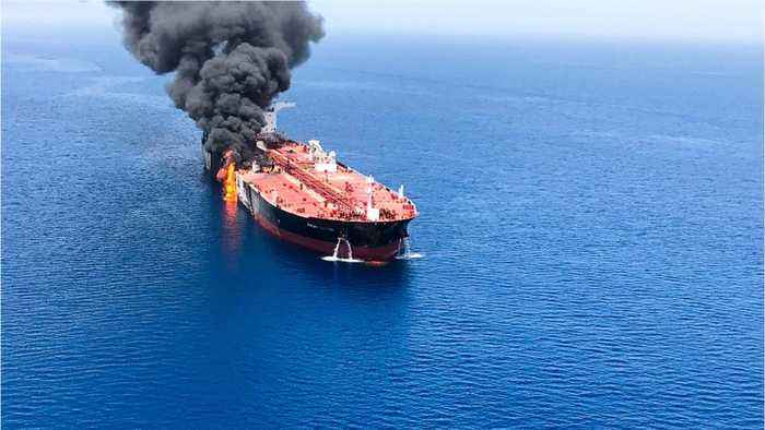 U.S. says explosive device found on one attacked oil tanker