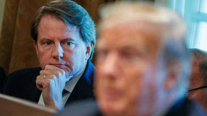 Trump claims former White House attorney McGahn lied to the FBI