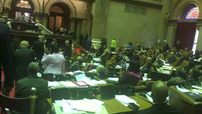 New York State Legislature peppered with abuse