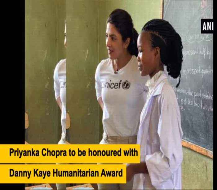 UNICEF to honour Priyanka Chopra with Danny Kaye Humanitarian Award