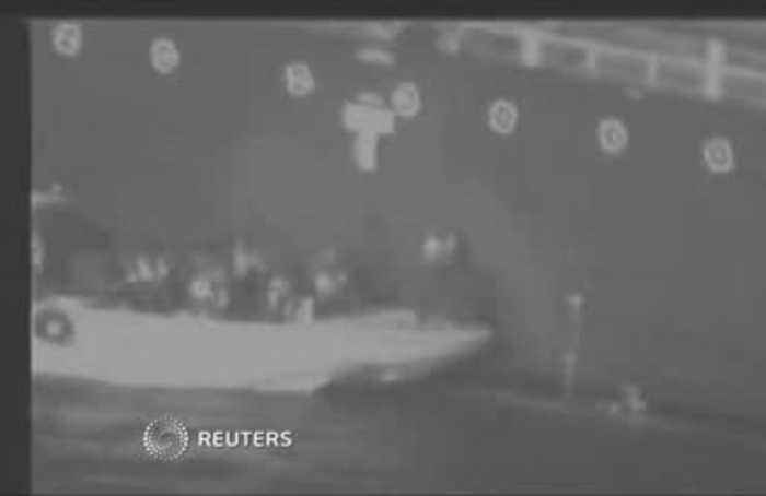 U.S. says this video shows Iran's military recovering a tanker mine