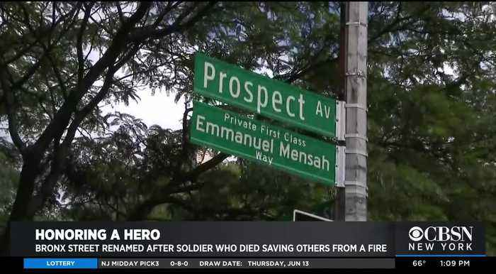 Bronx Intersection Renamed For Hero Soldier Who Died Saving Family From Fire