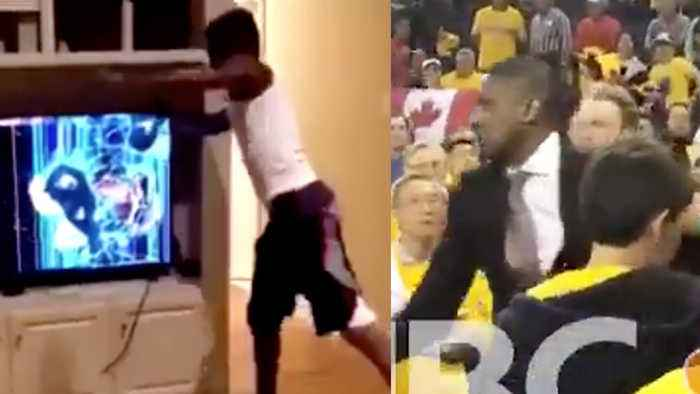 Police INVESTIGATE Raptors' Masai Ujiri HITTING Sheriff! And Crazed Warriors Fan DEMOLISHES TV!