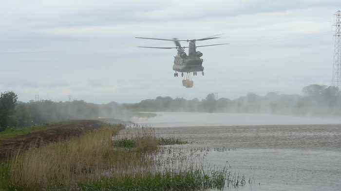 RAF drafted in after widespread heavy flooding