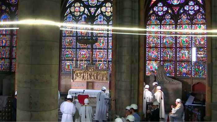 Notre Dame Holds First Mass Since Fire In April