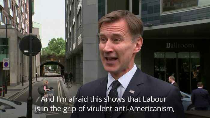 Hunt accuses Corbyn of 'virulent anti-Americanism over Iran threat