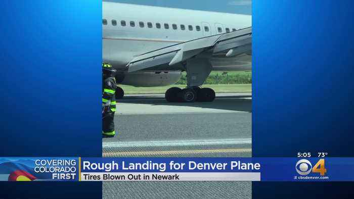 Flight From Denver To Newark Blows Tires Upon Landing