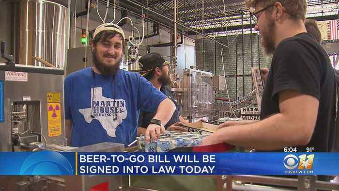 Bill Allowing Texas Craft Breweries To Sell 'Beer-To-Go' Signed Into Law