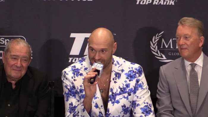 Tyson Fury has a message for Deontay Wilder after beating Tom Schwarz in Las Vegas