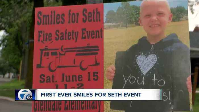 Smiles for Seth event raises fire safety awareness