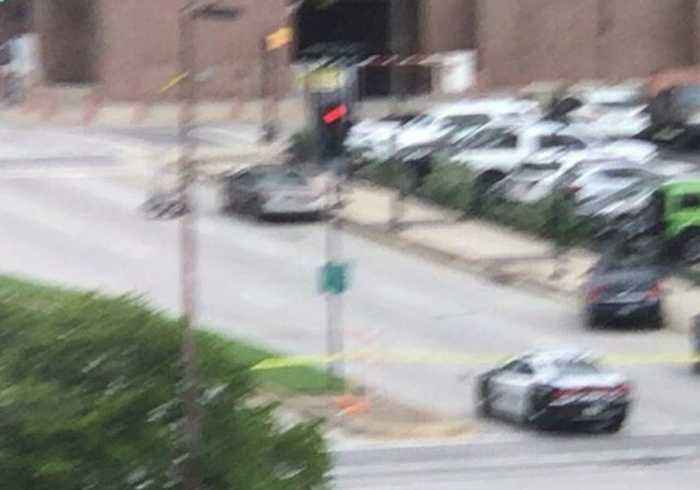 Bomb Disposal Robot Approaches Vehicle Amid Shooting Incident in Dallas
