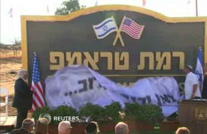 Israel launches 'Trump Heights' on Golan