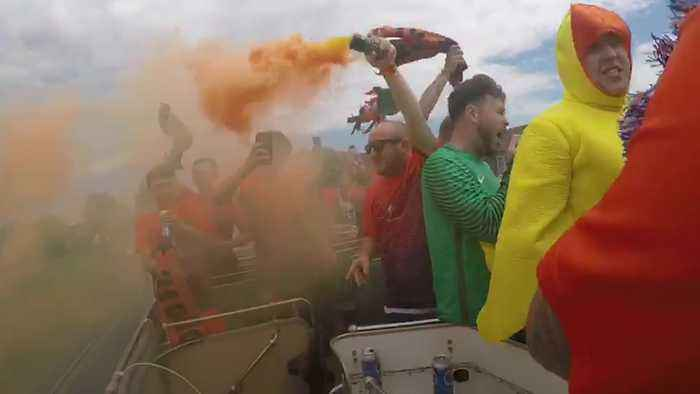 Sunday League side hire open-top bus tour to celebrate title win