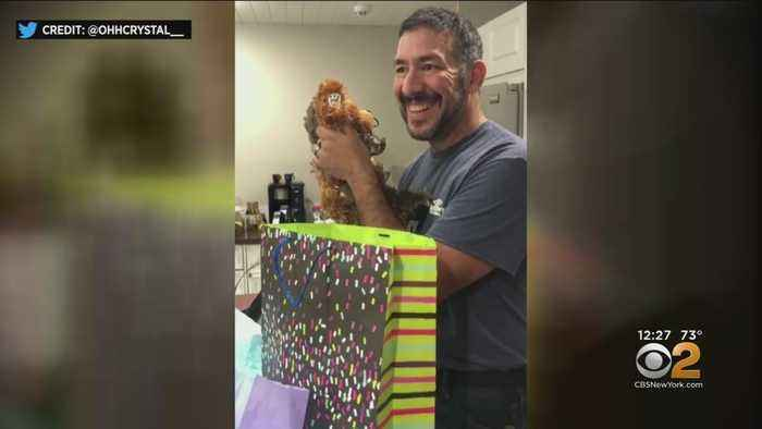Teddy Bear Surprise For Florida Grandfather-To-Be