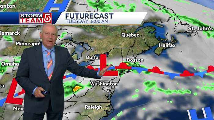 Video: Scattered rain showers over coming days