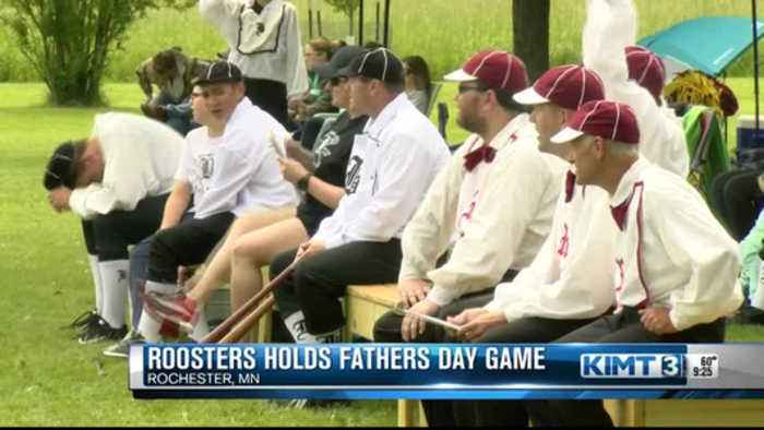 Roosters Base Ball Club of Rochester hosts Father's Day game