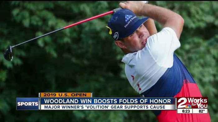U.S. Open winner Gary Woodland supports Folds of Honor with his gear