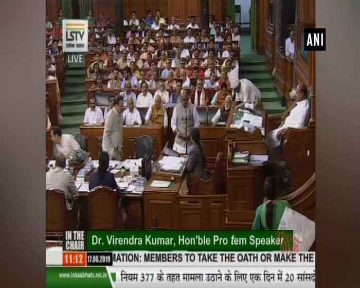 Rajnath Singh takes oath as Lok Sabha MP