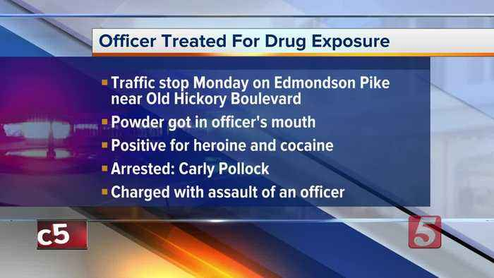 Officer exposed to heroin during Nashville traffic stop