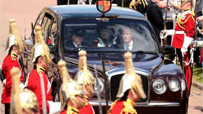 Queen Elizabeth Gathers Knights For Annual Order Of The Garter Service