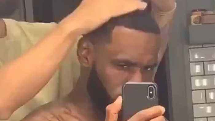 LeBron James Reveals His New ENHANCED Hairline In Celebration Of Anthony Davis Trade!