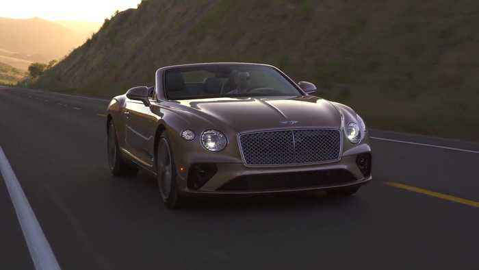 Bentley Continental GTC V8 Convertible in Rose Gold Driving Video