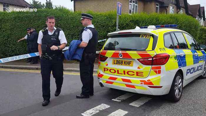 Police cordon off road in Barnet after stabbings leave 1 dead and 2 injured