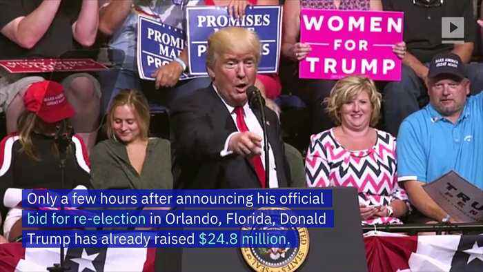 Trump Campaign Raises Over $24 Million in Less Than 24 Hours