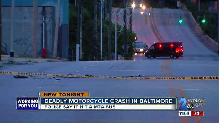 One dead following crash between motorcycle and MTA bus