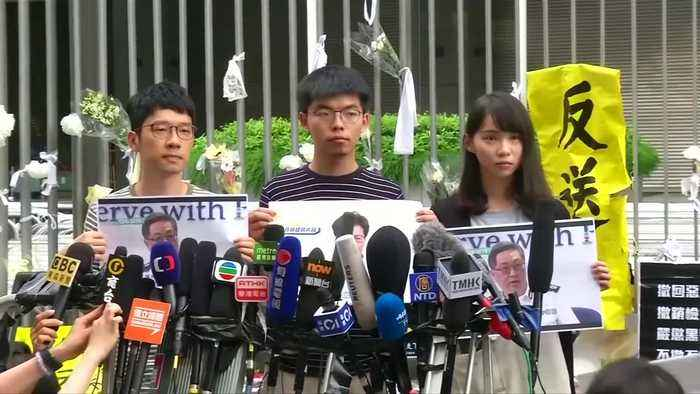Hong Kong leader says sorry again, protesters reject apology