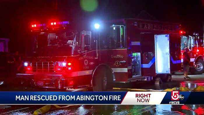 Man rescued from Abington fire