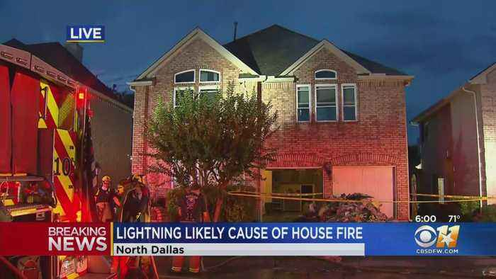Lightning May Be To Blame For Early Morning Dallas House Fire