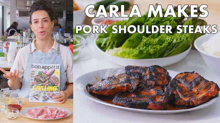 Carla Makes Pork Shoulder Steaks