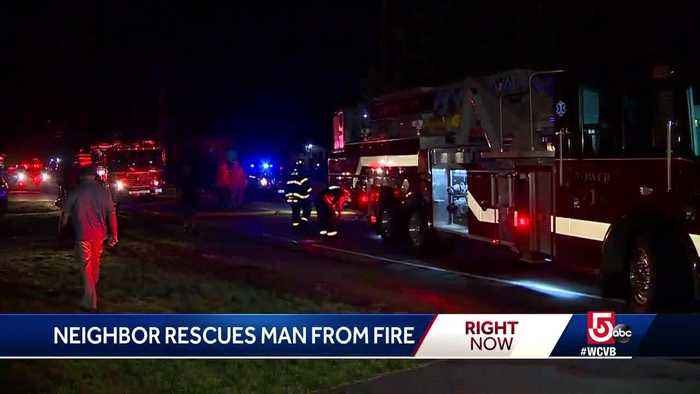 Neighbor rescues man from Abington fire