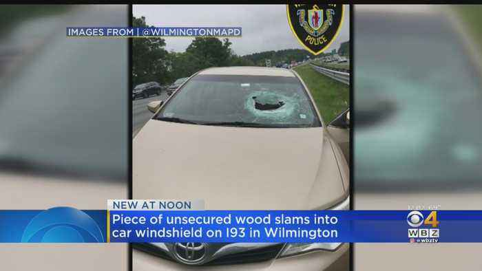 Flying Wood Block Shatters Windshield On I-93 In Wilmington