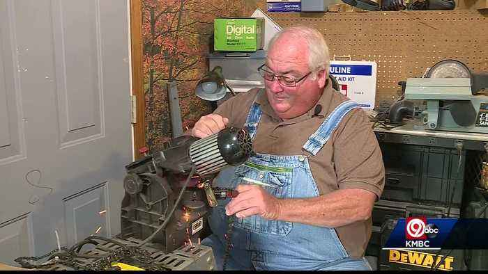 Tonganoxie man sharpens chainsaws for free for tornado victims