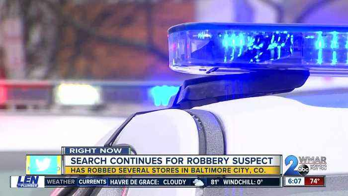 Suspect sought in Baltimore County robberies