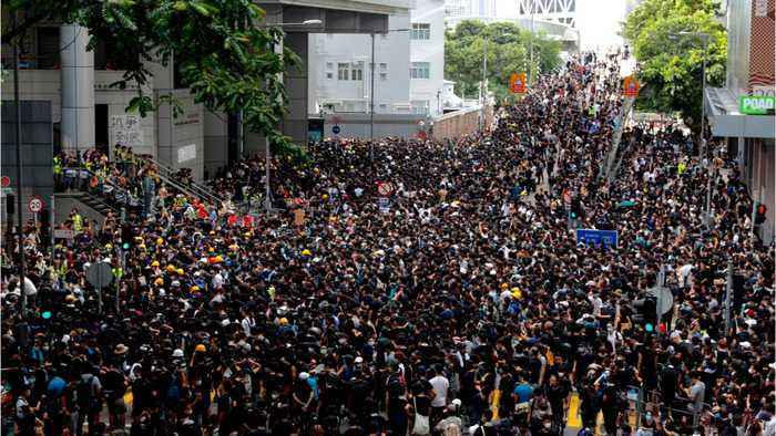 Hong Kong Streets Flooded With Protesters Demanding Extradition Bill Be Scrapped