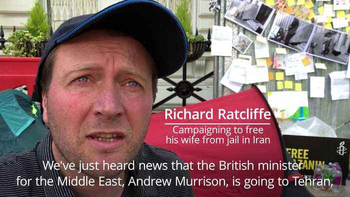 Richard Ratcliffe on day eight of his hunger strike