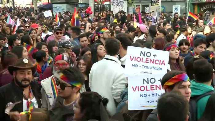 Thousands march in Chilean capital's pride parade