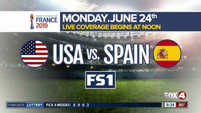 USA prepares to face Spain in the knockout stage of the Women's World Cup Monday