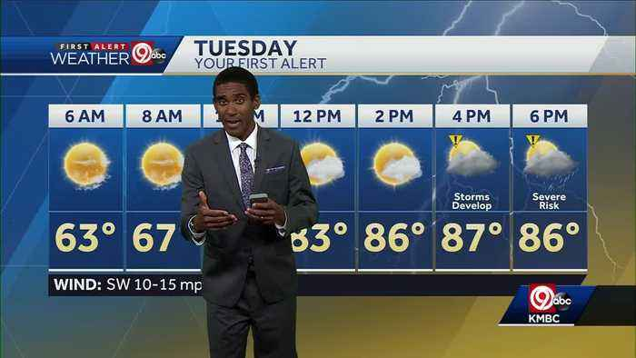 Scattered storms possible Tuesday afternoon, evening