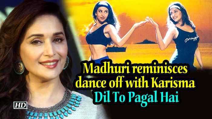 Madhuri reminisces dance off with Karisma | Dil To Pagal Hai