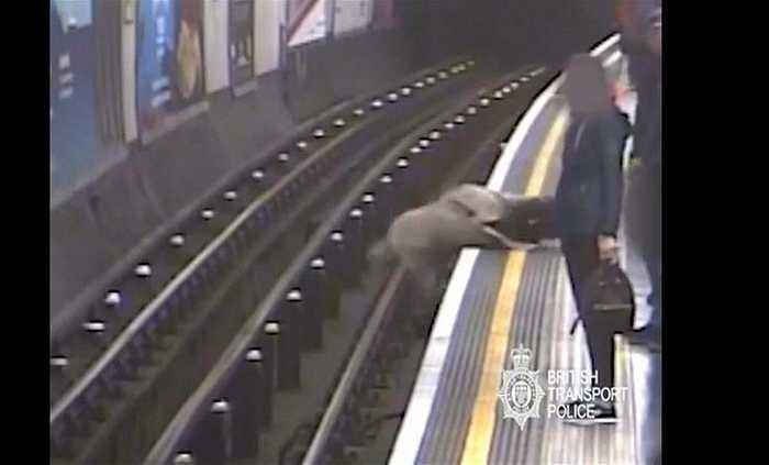 London tube 'pusher' who shoved ex-Eurotunnel chief onto track gets life sentence