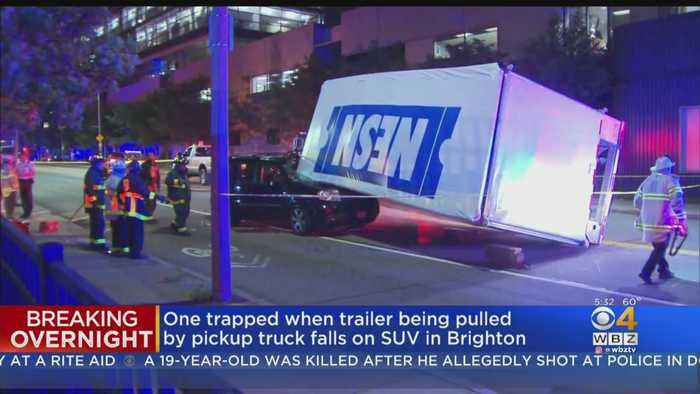 Trailer Carrying NESN Equipment From Red Sox Game Rolls Onto SUV, Trapping 2 People