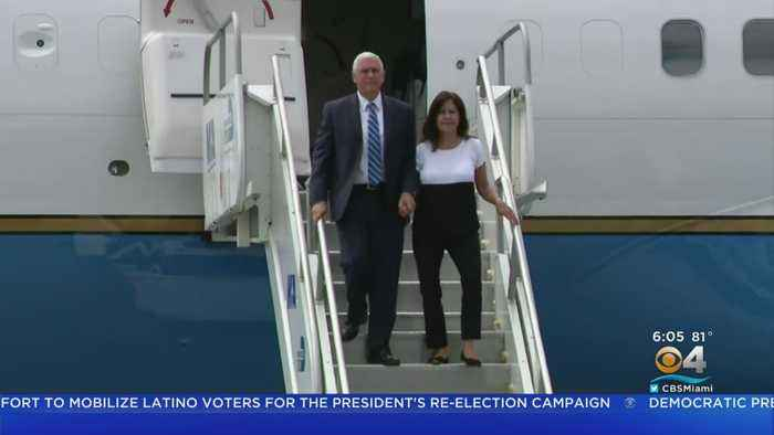 Vice President Mike Pence Launching Trump Campaign's Latino's For Trump Coalition In South Florida