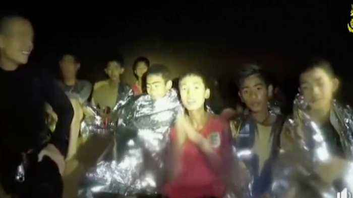 Thai Soccer Team Revisits Cave To Honor Diver Who Died In Rescue