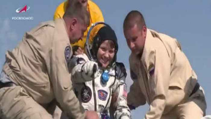 Astronaut Anne McClain returns to Earth