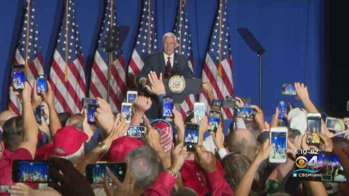 Vice President Pence Kicks-Off 'Latino's For Trump' Campaign In South Florida