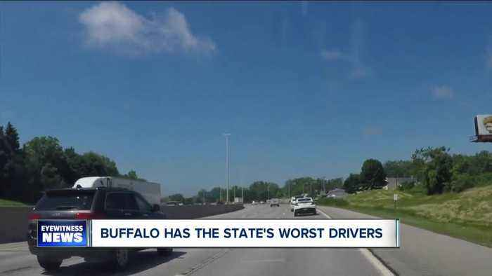 Study finds Buffalo has the worst drivers in New York